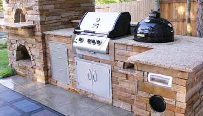 Custom BBQ Island In Colorado