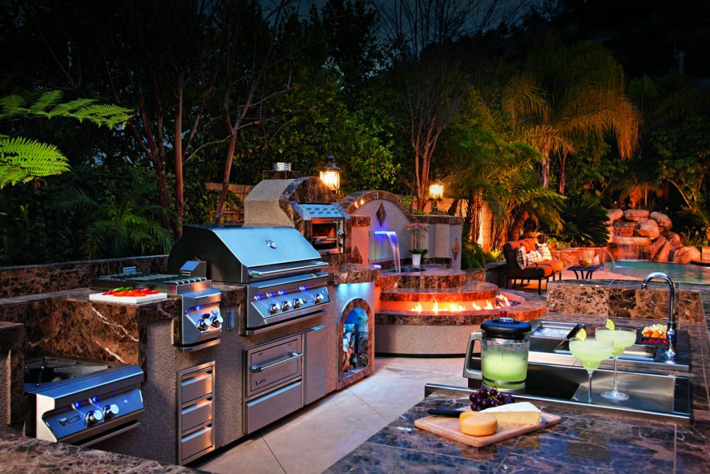 outdoor kitchen Style-Flooring Material Matchups