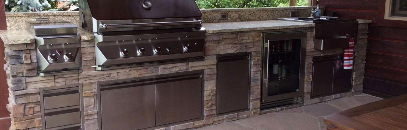 Twin Eagles Grill Built Into A Custom Outdoor Kitchen Hi