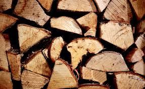 storing firewood logs