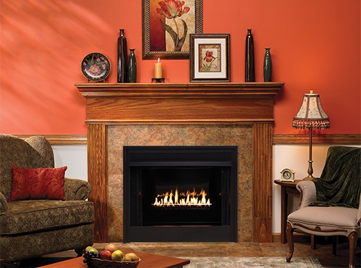 custom fireplace mantel & legs