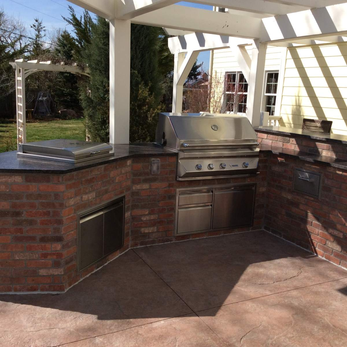 Brick Outdoor Kitchen: Brick Outdoor Kitchen Island In Superior, Co