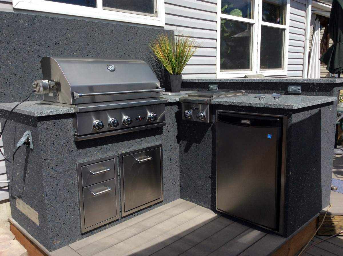 Builtin gas grill thornton co hi tech appliance for Gas grill tops outdoor kitchen
