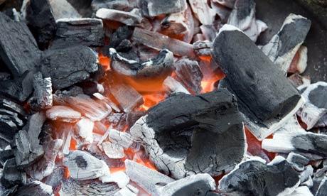 charcoal burn
