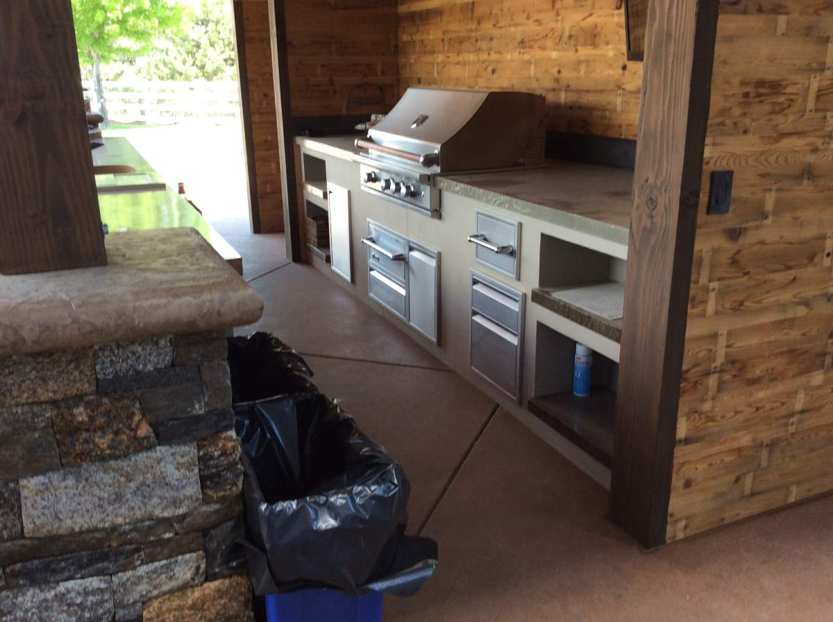 High end outdoor kitchen in boulder co hi tech appliance - High end kitchen appliances ...
