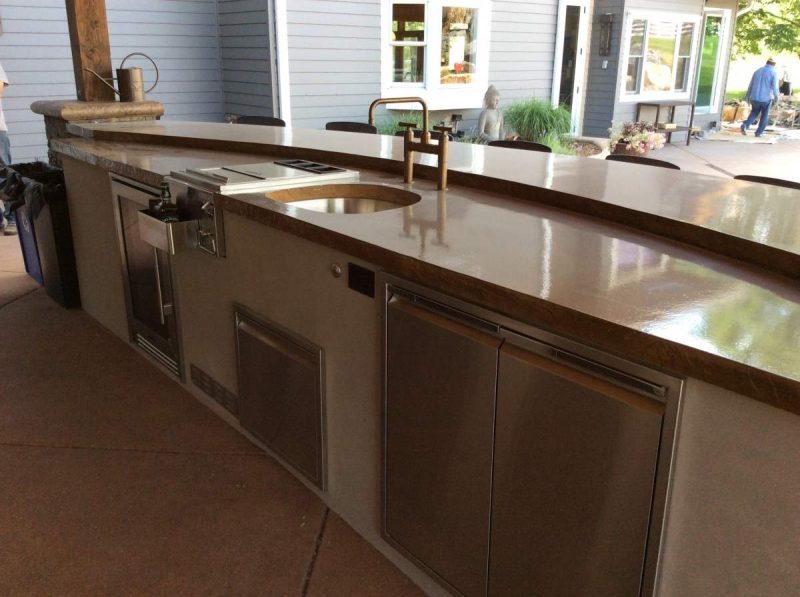 Waterproof Countertop Materials : Outdoor Kitchen Countertops Material - Part 1 Hi-Tech Appliance