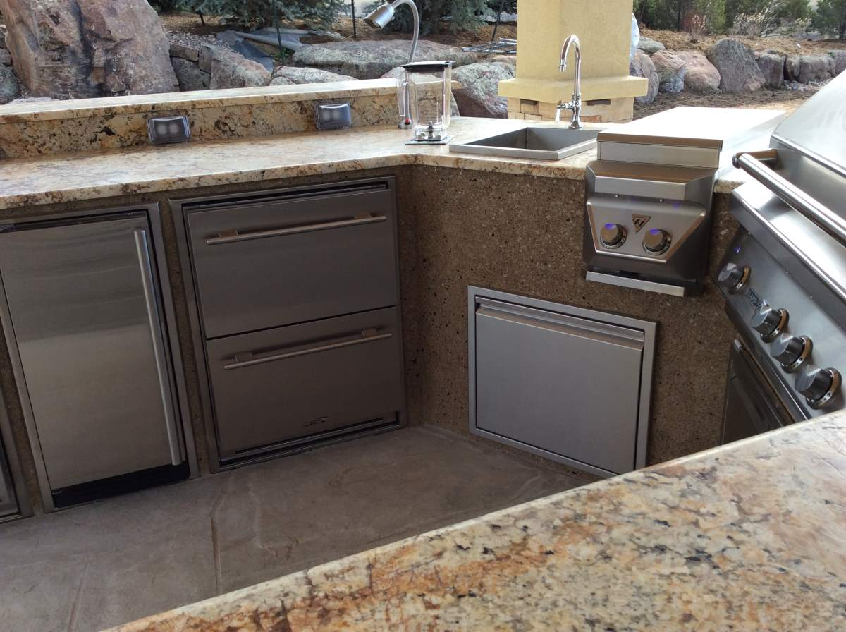 Custom Outdoor Rated Kitchen Cabinets Hi Tech Appliance