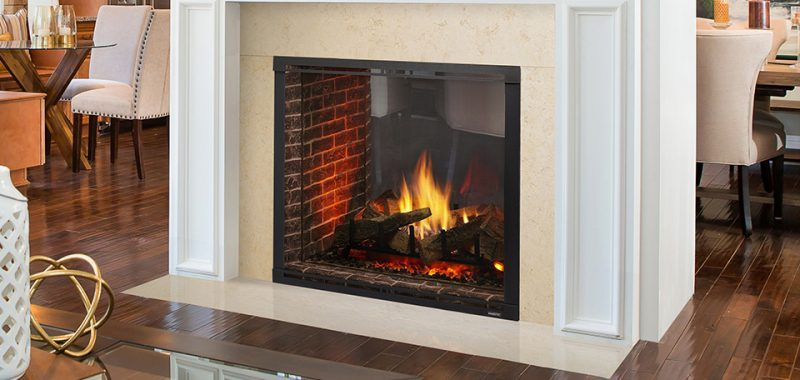 Zero-Clearance Gas Fireplace