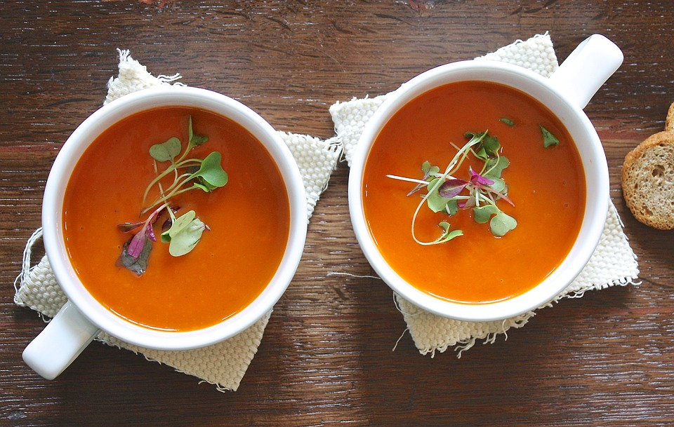 two cups of soup