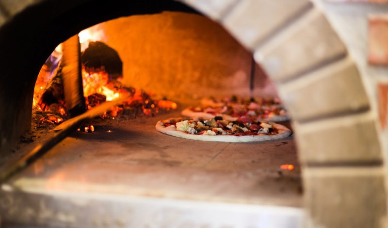 clean wood-fired oven