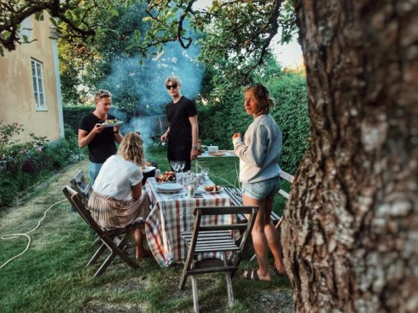 outdoor feature backyard party cookout