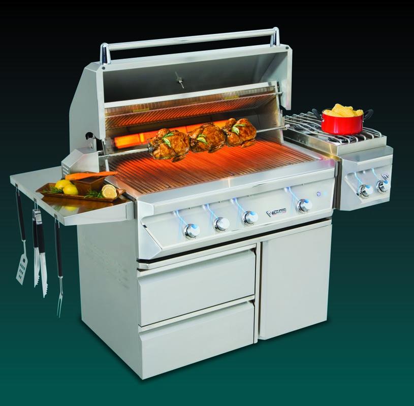 freestanding grill rostisserie
