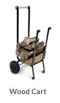 Fireplace wood cart