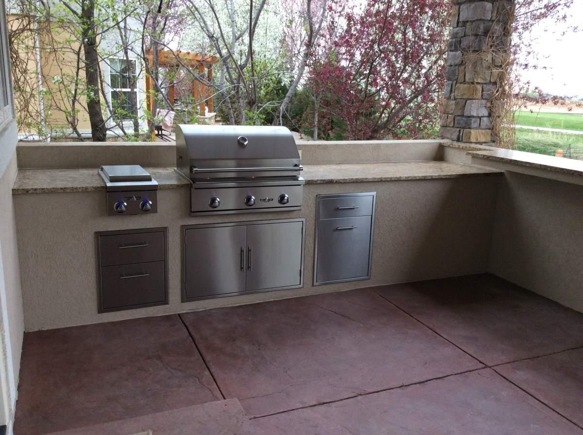 Custome Outdoor Kitchen In Longmont005 Hi Tech Appliance