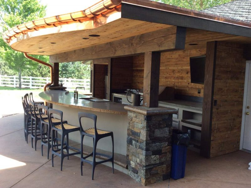 outdoor kitchen zones