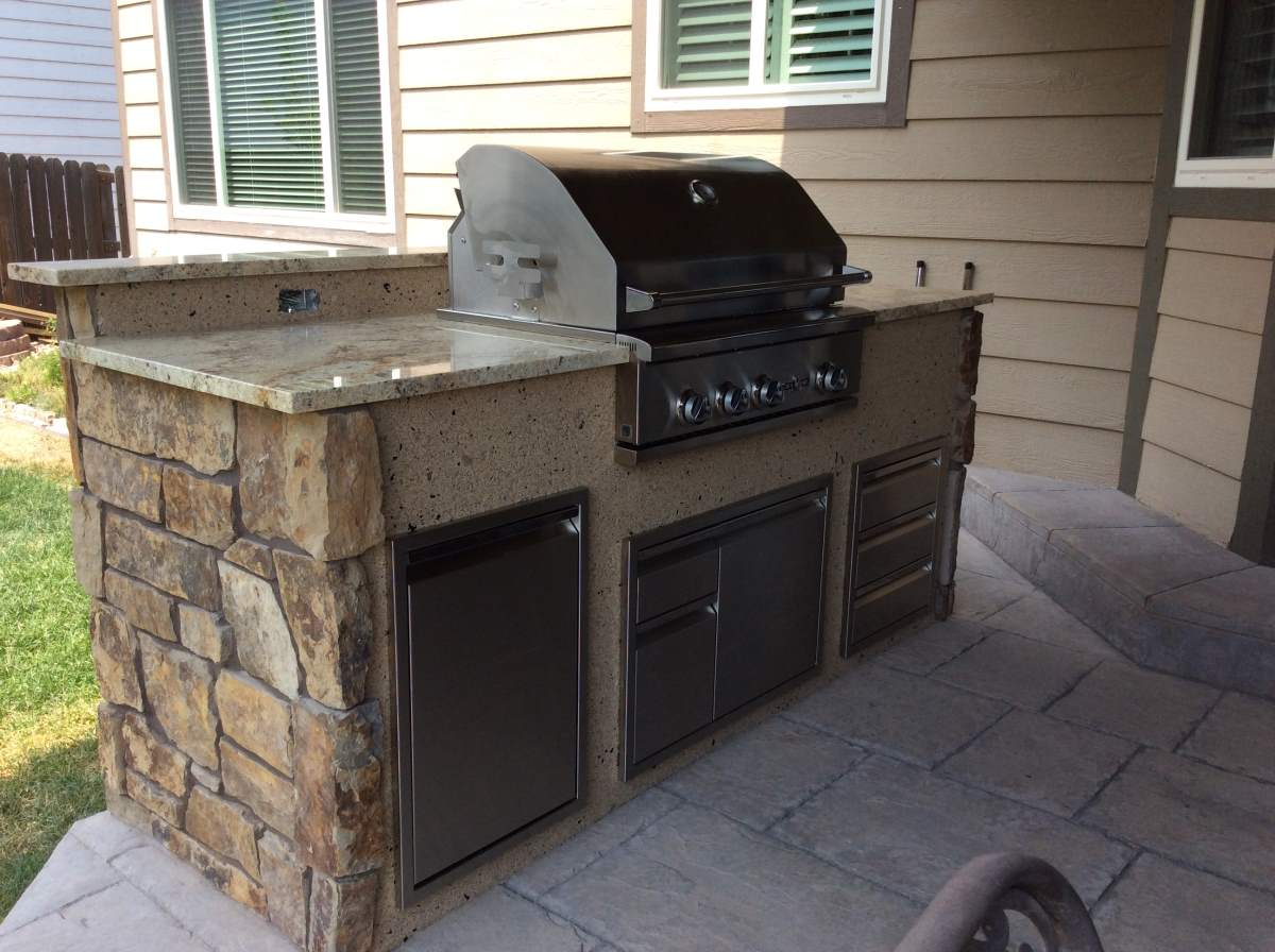 Outdoor BBQ Grill.