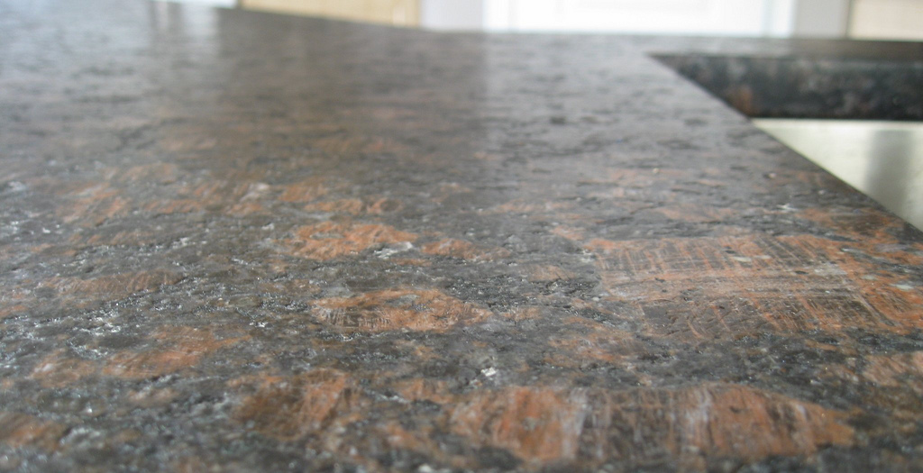 Clean outdoor kitchen countertop