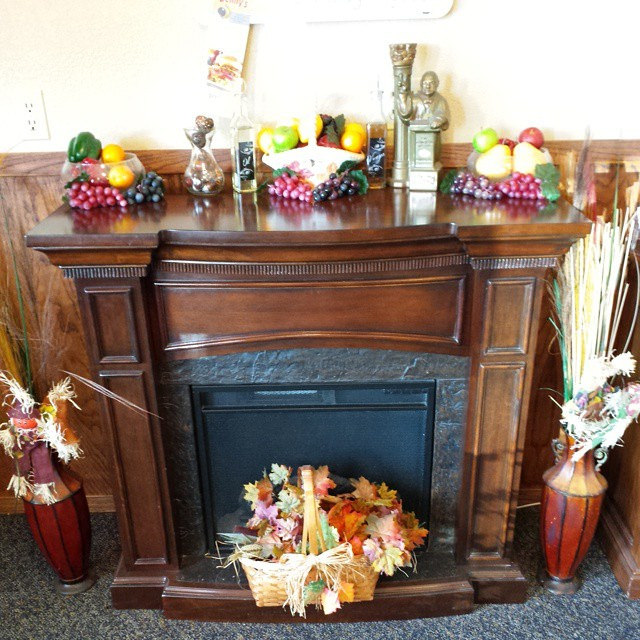 fireplace decorated in Colorado