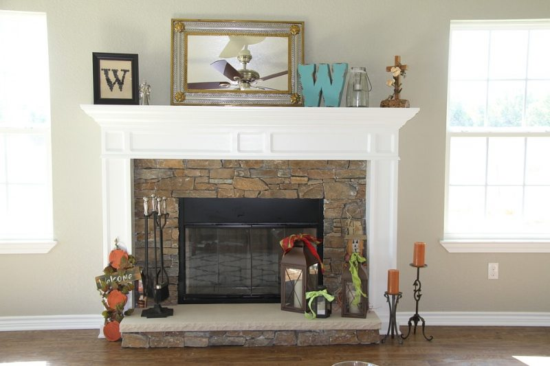 enhance your fireplace with decorations