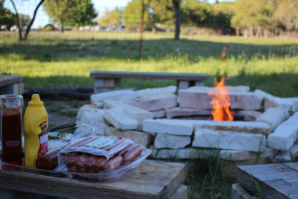 cooking with outdoor fire pit