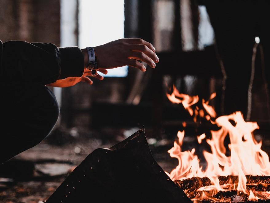 wood-burning fireplaces