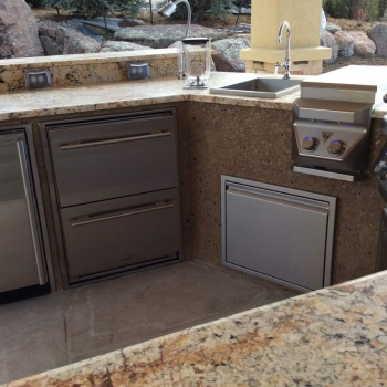 Custom Outdoor Rated Kitchen Cabinets Hi Tech Liance